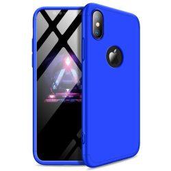 GKK 360 Protection telefon tok telefontok Első és hátsó az egész testet fedő iPhone XS Max kék (logo lyuk)
