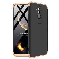 GKK 360 Protection telefon tok hátlap tok Első és hátsó tok telefon tok hátlap az egész testet fedő Huawei Mate 20 Lite fekete-arany