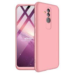 GKK 360 Protection telefon tok hátlap tok Első és hátsó tok telefon tok hátlap az egész testet fedő Huawei Mate 20 Lite rózsaszín