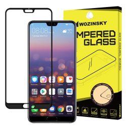Wozinsky edzett üveg Teljes Glue Super Tough képernyővédő fólia Teljes Coveraged kerettel Case barát Huawei P20 Pro fekete kijelzőfólia üvegfólia tempered glass