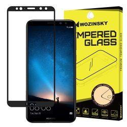 Wozinsky edzett üveg Teljes Glue Super Tough képernyővédő fólia Teljes Coveraged kerettel Case barát Huawei Mate 10 Lite fekete kijelzőfólia üvegfólia tempered glass