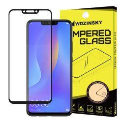 Wozinsky edzett üveg Teljes Glue Super Tough képernyővédő fólia Teljes Coveraged kerettel telefon tok hátlap tok barát Huawei P smart Plus fekete kijelzőfólia üvegfólia tempered glass