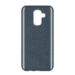 Wozinsky Glitter telefon tok hátlap tok Fényes Cover Samsung Galaxy A6 Plus 2018 A605 fekete
