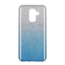 Wozinsky Glitter telefon tok hátlap tok Fényes Cover Samsung Galaxy A6 Plus 2018 A605 kék