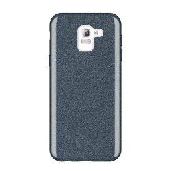 Wozinsky Glitter telefon tok hátlap tok Shining Cover Samsung Galaxy J6 2018 J600 fekete