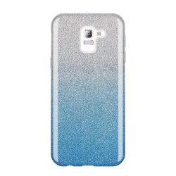 Wozinsky Glitter telefon tok hátlap tok Shining Cover Samsung Galaxy J6 2018 J600 kék