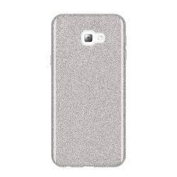 Wozinsky Glitter telefon tok hátlap tok Fényes Cover Samsung Galaxy J4 Plus 2018 J415 ezüst