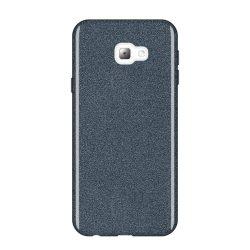 Wozinsky Glitter telefon tok hátlap tok Shining Cover Samsung Galaxy J4 Plus 2018 J415 fekete