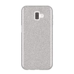 Wozinsky Glitter telefon tok hátlap tok Fényes Cover Samsung Galaxy J6 Plus 2018 J610 ezüst