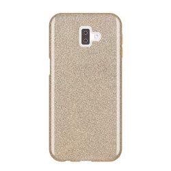 Wozinsky Glitter telefon tok hátlap tok Shining Cover Samsung Galaxy J6 Plus 2018 J610 arany
