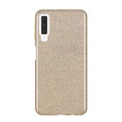 Wozinsky Glitter telefon tok hátlap tok Fényes Cover Samsung Galaxy A7 2018 A750 arany