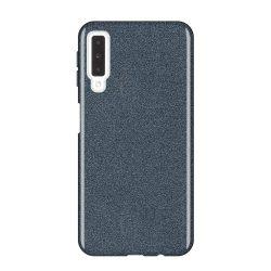 Wozinsky Glitter telefon tok hátlap tok Fényes Cover Samsung Galaxy A7 2018 A750 fekete