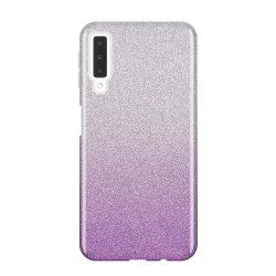 Wozinsky Glitter telefon tok hátlap tok Fényes Cover Samsung Galaxy A7 2018 A750 lila