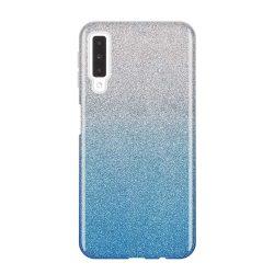 Wozinsky Glitter telefon tok hátlap tok Fényes Cover Samsung Galaxy A7 2018 A750 kék
