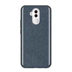 Wozinsky Glitter telefon tok telefontok (hátlap) tok Shining Cover Huawei Mate 20 Lite fekete