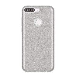Wozinsky Glitter telefon tok hátlap tok Fényes Cover Huawei Y7 Prime 2018 ezüst