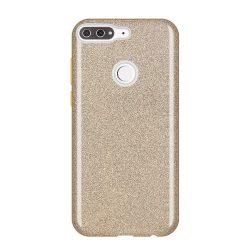 Wozinsky Glitter telefon tok hátlap tok Fényes Cover Huawei Y7 Prime 2018 arany