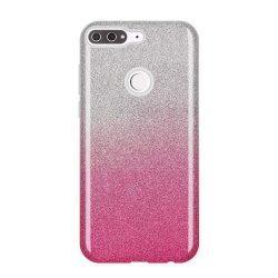 Wozinsky Glitter telefon tok hátlap tok Fényes Cover Huawei Y7 Prime 2018 rózsaszín