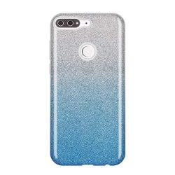 Wozinsky Glitter telefon tok hátlap tok Fényes Cover Huawei Y7 Prime 2018 kék