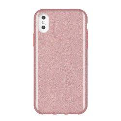 Wozinsky Glitter telefon tok hátlap tok Fényes Cover iPhone XS Max világos rózsaszín