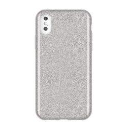 Wozinsky Glitter telefon tok hátlap tok Fényes Cover iPhone XS Max ezüst