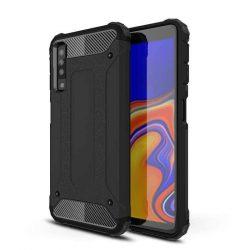 Hibrid Armor telefon tok telefontok (hátlap) tok Ütésálló Robusztus Cover Samsung Galaxy A7 2018 A750 fekete