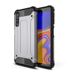 Hibrid Armor telefon tok telefontok (hátlap) tok Ütésálló Robusztus Cover Samsung Galaxy A7 2018 A750 ezüst