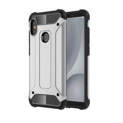 Hibrid Armor telefon tok hátlap tok Ütésálló Robusztus hátlap tok telefon tok Xiaomi Mi A2 Lite / redmi 6 Pro ezüst