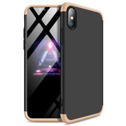 GKK 360 Protection telefon tok hátlap tok Első és hátsó tok telefon tok hátlap az egész testet fedő iPhone XR fekete-arany