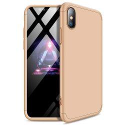 GKK 360 Protection telefon tok hátlap tok Első és hátsó tok telefon tok hátlap az egész testet fedő iPhone XR arany