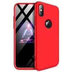 GKK 360 Protection telefon tok telefontok Első és hátsó az egész testet fedő iPhone XR piros (logo lyuk)
