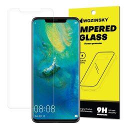 Wozinsky edzett üveg kijelzőfólia képernyőfólia SCO (Csak a képernyő közepére) Huawei Mate 20 Pro (csomagolás - boríték) kijelzőfólia üvegfólia tempered glass