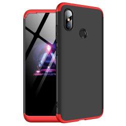 GKK 360 Protection telefon tok hátlap tok Első és hátsó tok telefon tok hátlap az egész testet fedő Xiaomi redmi 6 NOTE Pro fekete-piros