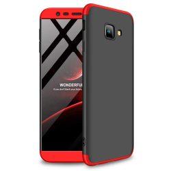 GKK 360 Protection telefon tok hátlap tok Első és hátsó tok telefon tok hátlap az egész testet fedő Samsung Galaxy J4 Plus 2018 J415 fekete-piros
