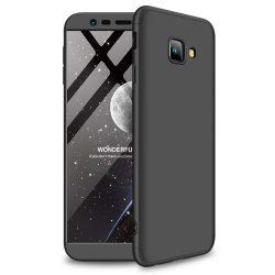 GKK 360 Protection telefon tok hátlap tok Első és hátsó tok telefon tok hátlap az egész testet fedő Samsung Galaxy J4 Plus 2018 J415 fekete