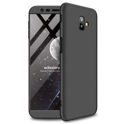 GKK 360 Protection telefon tok hátlap tok Első és hátsó tok telefon tok hátlap az egész testet fedő Samsung Galaxy J6 Plus 2018 J610 fekete