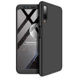 GKK 360 Protection telefon tok hátlap tok Első és hátsó tok telefon tok hátlap az egész testet fedő Samsung Galaxy A7 2018 A750 fekete