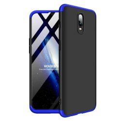 GKK 360 Protection telefon tok hátlap tok Első és hátsó tok telefon tok hátlap az egész testet fedő OnePlus 6T fekete-kék
