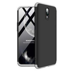 GKK 360 Protection telefon tok hátlap tok Első és hátsó tok telefon tok hátlap az egész testet fedő OnePlus 6T fekete-ezüst