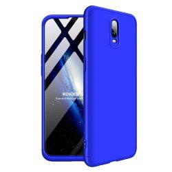 GKK 360 Protection telefon tok hátlap tok Első és hátsó tok telefon tok hátlap az egész testet fedő OnePlus 6T kék