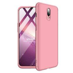 GKK 360 Protection telefon tok hátlap tok Első és hátsó tok telefon tok hátlap az egész testet fedő OnePlus 6T rózsaszín