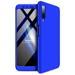GKK 360 Protection telefon tok hátlap tok Első és hátsó tok telefon tok hátlap az egész testet fedő Samsung Galaxy A7 2018 A750 kék