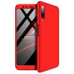 GKK 360 Protection telefon tok telefontok (hátlap) Első és hátsó az egész testet fedő Samsung Galaxy A7 2018 A750 piros