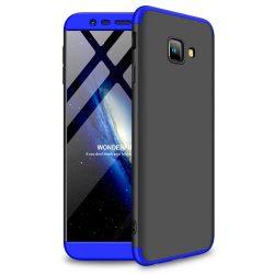 GKK 360 Protection telefon tok hátlap tok Első és hátsó tok telefon tok hátlap az egész testet fedő Samsung Galaxy J4 Plus 2018 J415 fekete-kék