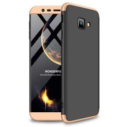 GKK 360 Protection telefon tok hátlap tok Első és hátsó tok telefon tok hátlap az egész testet fedő Samsung Galaxy J4 Plus 2018 J415 fekete-arany