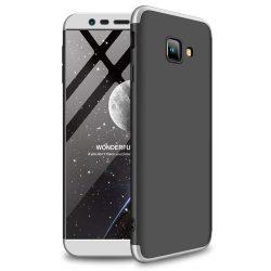 GKK 360 Protection telefon tok hátlap tok Első és hátsó tok telefon tok hátlap az egész testet fedő Samsung Galaxy J4 Plus 2018 J415 fekete-ezüst