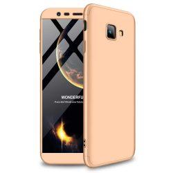 GKK 360 Protection telefon tok hátlap tok Első és hátsó tok telefon tok hátlap az egész testet fedő Samsung Galaxy J4 Plus 2018 J415 arany