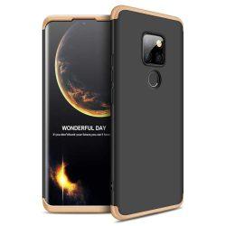 GKK 360 Protection telefon tok hátlap tok Első és hátsó tok telefon tok hátlap az egész testet fedő Huawei Mate 20 fekete-arany