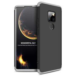 GKK 360 Protection telefon tok hátlap tok Első és hátsó tok telefon tok hátlap az egész testet fedő Huawei Mate 20 fekete-ezüst