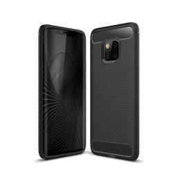 Carbon telefon tok telefontok rugalmas Cover TPU Huawei Mate 20 Pro fekete
